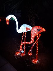 4 Ft. LED Lighted Flamingo Outdoor Decor - White or Red