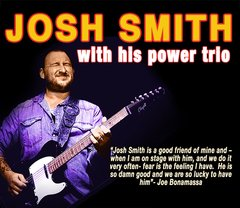 May 18, Fri. 5:30 pm Show - Big Island - Kona - Josh Smith and his Power Trio - Adv.
