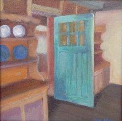 Blue Door in a barn