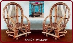 4th-of-July Special: Willow Furniture Special - Frontier Cabin: 3 Piece Set - Handcrafted Pool and Patio Furniture