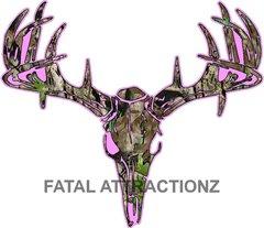 Pink Camo Deer Skull S4