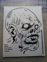 Shooting Target Zombie Head style 2