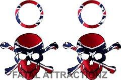 Rebel Flag Skull Crossbones Cornhole Pack