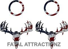 American Flag Deer Skull S4 Cornhole Pack