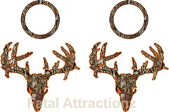 Orange Brown Camo Zombie Deer Skull Cornhole Pack