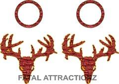 Flesh Zombie Deer Skull Cornhole Pack