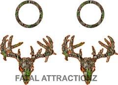 Camo Orange Zombie Deer Skull Cornhole Pack