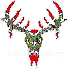 Confederate Camo Flag Deer Skull S3