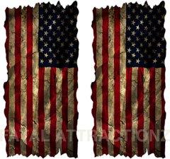 Distressed American Flag Cornhole Cover