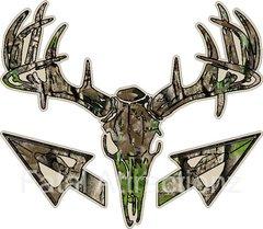 Tan Camo Bowhunter Deer Skull S4 Arrows