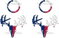 Texas Flag Zombie Deer Skull Cornhole Pack