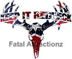 Rebel Flag Keep it Redneck Deer Skull S4