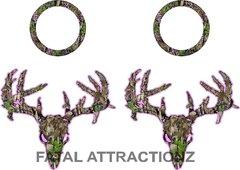 Pink Camo Zombie Deer Skull Cornhole Pack