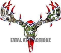 Confederate Camo Flag Deer Skull S4