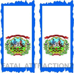 West Virginia Flag Cornhole Cover