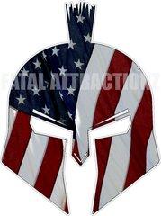 American Flag Spartan Trojan