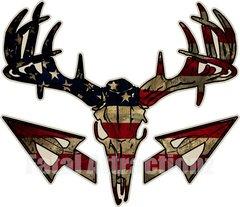 Distressed American Flag Deer Skull S4 Arrows
