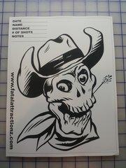 Shooting Target Cowboy Skull