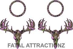 Pink Camo Deer Skull S4 Cornhole Pack
