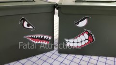 Battle Faces for Ammo Cans, Tool Boxes, Vehicles, etc