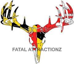Maryland Flag Deer Skull S4
