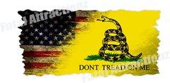 Distressed American Gadsden Flag V2
