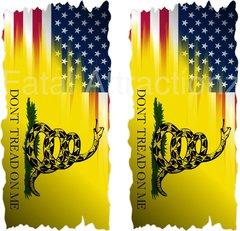 American Gadsden Flag Cornhole Cover