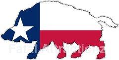 Texas Flag Wild Hog