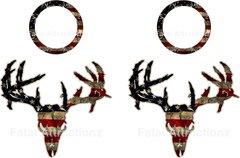 Distressed American Flag Zombie Deer Skull Cornhole Pack