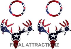 Rebel Flag Zombie Deer Skull Cornhole Pack