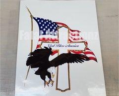 God Bless America Cross Eagle Cross Flag