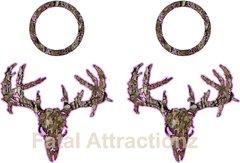 Pink Brown Camo Zombie Deer Skull Cornhole Pack