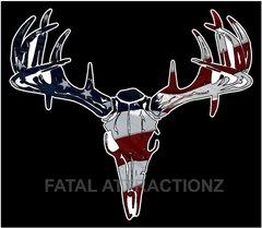 American Flag Deer Skull S4