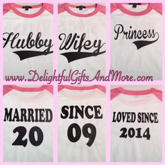HUSBAND, WIFE, AND CHILD 3/4 SLEEVE SHIRT SET