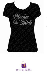MOTHER OF THE BRIDE RHINESTONE BLING TEE