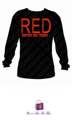 RED (REMEMBER EVERYONE DEPLOYED) UNISEX TEE