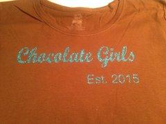 CHOCOLATE GIRLS ORGANIZATION GLITTER TEE