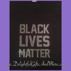 BLACK LIVES MATTER RHINESTONE BLING TEE