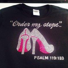 ORDER MY STEPS RHINESTONE BLING TEE