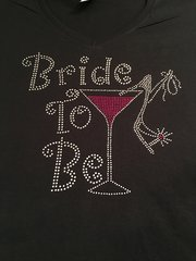 BRIDE-TO-BE RHINESTONE BLING TEE