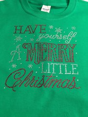 HAVE YOURSELF A MERRY LITTLE CHRISTMAS RHINESTONE BLING TEE