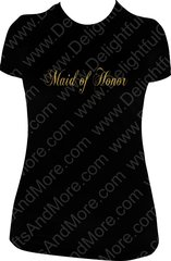 MAID OF HONOR SPARKLY TEE