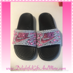 Women's Bling Slides
