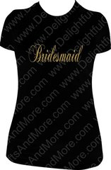 BRIDAL PARTY SPARKLY TEE - CHOOSE YOUR OWN TITLE
