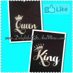 KING & QUEEN SHIRT SET - PLAIN TEE