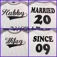 HUSBAND AND WIFE 3/4 SLEEVE SHIRT SET