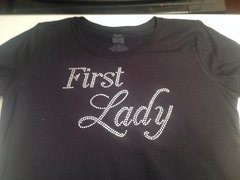 FIRST LADY RHINESTONE BLING TEE