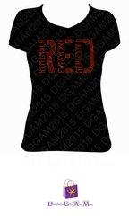 RED (REMEMBER EVERYONE DEPLOYED) RHINESTONE BLING TEE