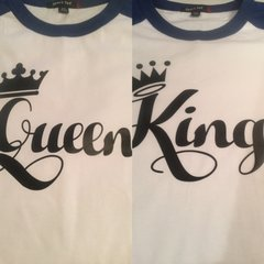 KING AND QUEEN SHORT SLEEVE SHIRT SET