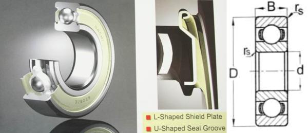 6001 ZZE Nachi Double Shield 12 X 28 X 8